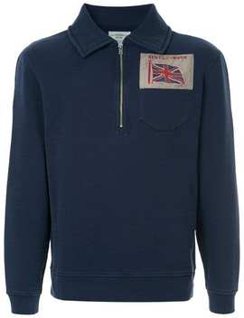 Zipped Neck Sweatshirt by Kent & Curwen