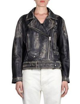 Vintage Look Leather Jacket by Acne Studios