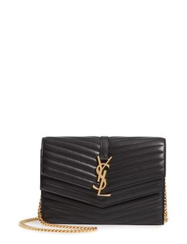 Sulpice Leather Crossbody Wallet by Saint Laurent