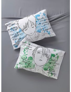 Yuri!!! On Ice Watercolor Pillowcase Set by Hot Topic