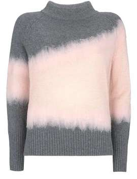 Granite & Pink Intarsia Knit by Mint Velvet