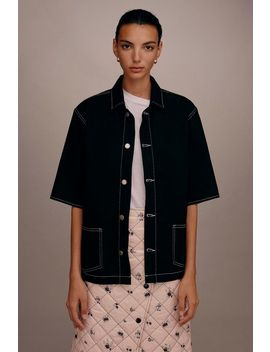 **Denim Bowling Shirt By Boutique by Topshop