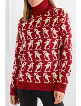 Grenoble Wool And Cashmere Blend Intarsia Turtleneck Sweater by Moncler Genius