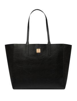 Wandel Medium Leather Shopper Tote Bag by Mcm
