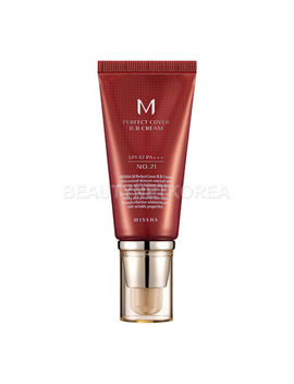 [Missha] M Perfect Cover Bb Cream (Spf42/Pa+++) 50ml #21 Light Beige by Missha