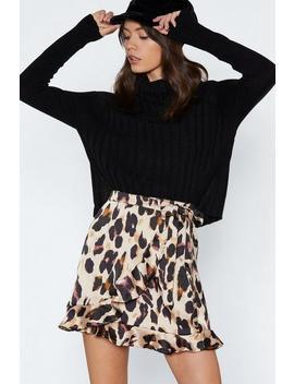 So Fierce Leopard Wrap Skirt by Nasty Gal