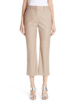 Adler Pinstripe Crop Flare Pants by Altuzarra