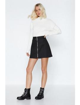 Zip It Mini Skirt by Nasty Gal