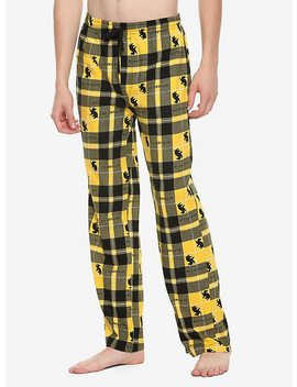 Harry Potter Hufflepuff Plaid Guys Pajama Pants by Hot Topic