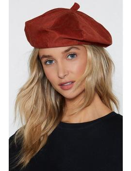 Paint Me Corduroy Beret by Nasty Gal