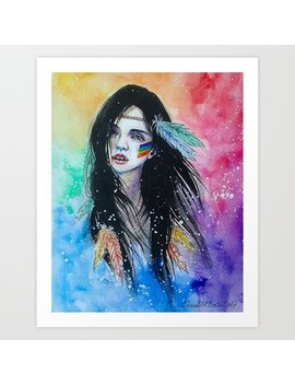 Rainbow Girl Art Print by