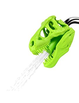 Barbuzzo T Rex Shower Head, Green   Prehistoric Shower Nozzle Shaped Like A Tyrannosaurus Rex Skull   Gives Your Shower Time A Jurassic Touch   Terrific Gift For Kids & Dino Enthusiasts   Wash N' Roar by Barbuzzo