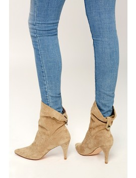 Morgana 1 Taupe Suede Mid Calf Booties by Lulus