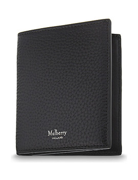 Trifold Grained Leather Card Wallet by Mulberry