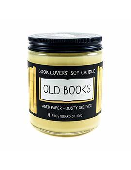 Old Books   Book Lovers' Soy Candle   8oz Jar by Amazon