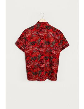 Urban Renewal One Of A Kind Red Floral Chinoiserie Top by Urban Renewal