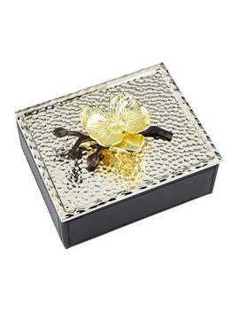 Gold Orchid Jewelry Box by Michael Aram