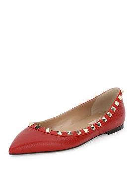 Rockstud Leather Ballet Flats by Valentino Garavani
