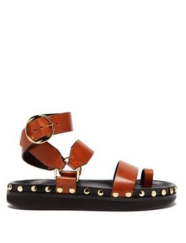 Nirvy Stud Embellished Leather Sandals by Isabel Marant
