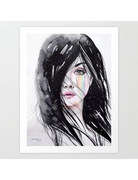 Rainbow Tears Art Print by