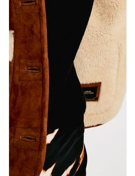 Uo Halo Brown Suede Coat by Urban Outfitters