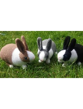 Customisable Crocheted Dutch Rabbit Soft Toy, Bunny Ce Marked, Black And White Grey, Brown, Made To Order Stuffy Custom Gift Present Child by Etsy