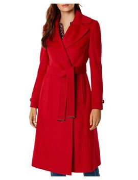 Belted Double Breasted Coat   100 Percents Exclusive by Karen Millen