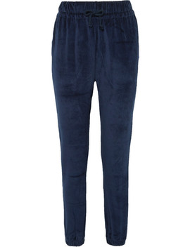 Al Organic Cotton Velour Track Pants by Baserange