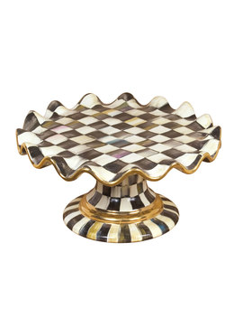 Courtly Check Cake Stand by Mac Kenzie Childs