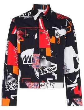 """Jeansjacke Mit """"Modernist"""" Print by Calvin Klein Jeans Est. 1978"""