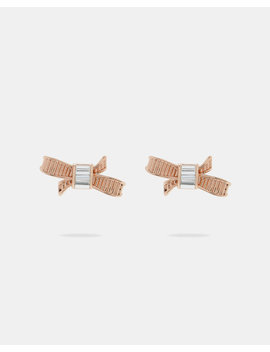 Mini Ribbon Bow Earrings by Ted Baker