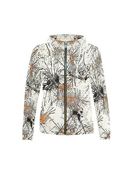 Interest Print Abstract Awesome Print Full Zip Hoodie Sweatshirt For Women by Interest Print