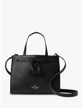 Kate Spade New York Hayes Street Isobel Leather Small Satchel Bag, Black by Kate Spade New York