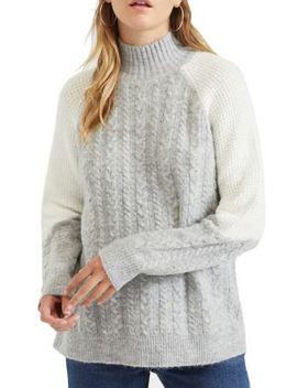 Colorblock Knit Sweater by Miss Selfridge
