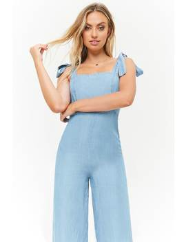 Chambray Palazzo Jumpsuit by Forever 21