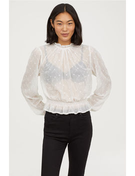 Broderad Chiffongblus by H&M