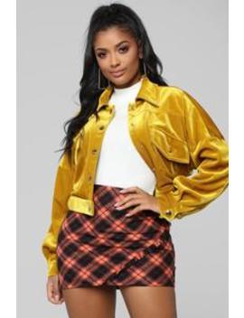 Dame Oro Jacket   Gold by Fashion Nova
