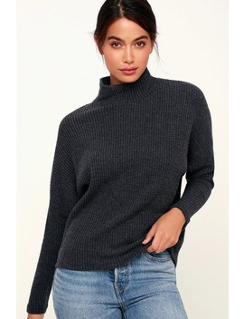 The Mock Neck Washed Black Thermal Long Sleeve Top by Z Supply