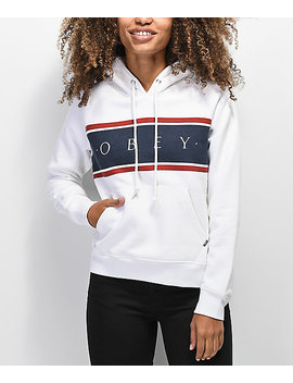 Obey Novel Palisade White Hoodie by Obey