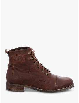 Josef Seibel Sienna 17 Lace Up Ankle Boots, Camel Leather by Josef Seibel