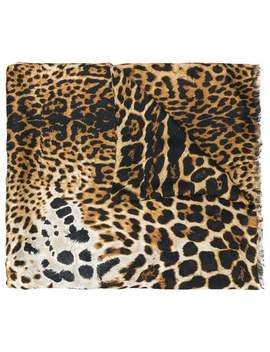 Leopard Scarf by Saint Laurent