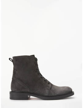 John Lewis & Partners Ovalia Ankle Boots, Grey Suede by John Lewis & Partners