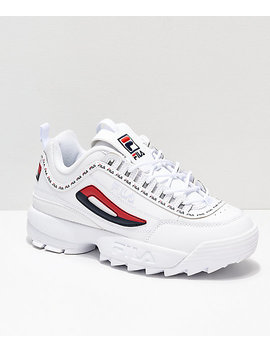 Fila Disruptor Ii Logo Taping White Shoes by Fila