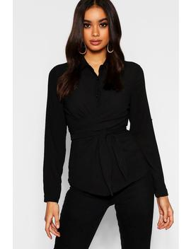 Tie Front Shirt by Boohoo