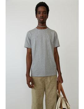 Basic T Shirt  Light Grey Melange by Acne Studios