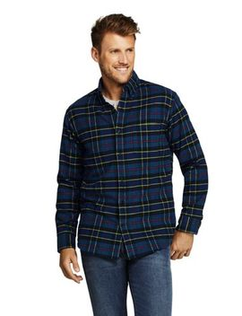 Men's Slim Fit  Long Sleeve Pattern Flannel Shirt by Lands' End