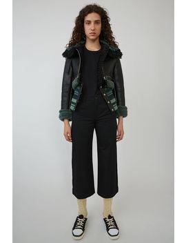 Shearling Jacket Black/Green by Acne Studios