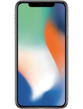 I Phone X With 64 Gb Memory Cell Phone (Unlocked)   Silver by Apple