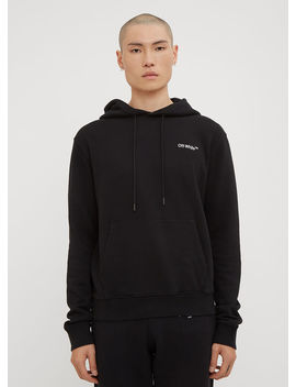 Hooded Small Logo Sweatshirt In Black by Off White