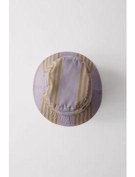 Bucket Hat Purple/Khaki by Acne Studios